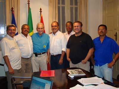 Jonildo Glória, Jailson Nascimento, Ramiro Aquino, Valério de Magalhães, Everaldo Benedito, Maurício Maron e Joselito Reis (esq. p/ dir.)